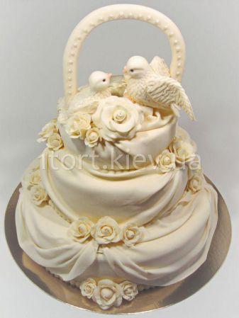торт с голубями фото