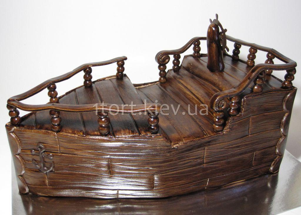 Корабль из мастики пошагово