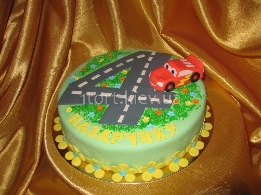Торт на 4 года мальчику своими руками