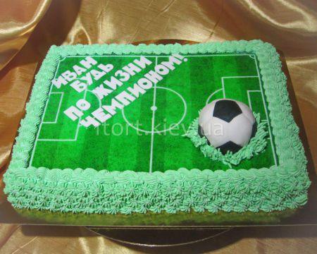Футбольное поле торт своими руками