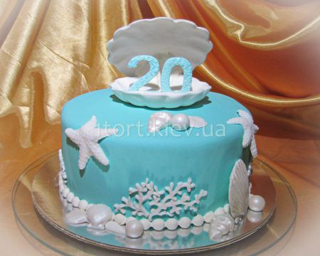 Торт с ракушками мастер класс