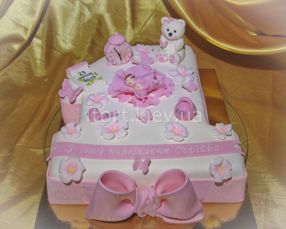 фото торт на 1 год девочке