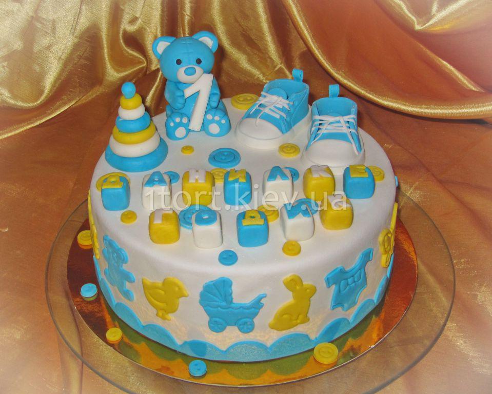 Торт детский для мальчика 1 год своими руками