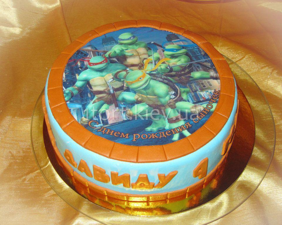Торт с ниндзя фото