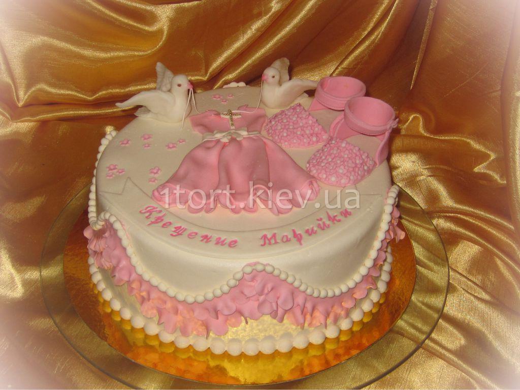 Торт на крестины на заказ для девочки фото
