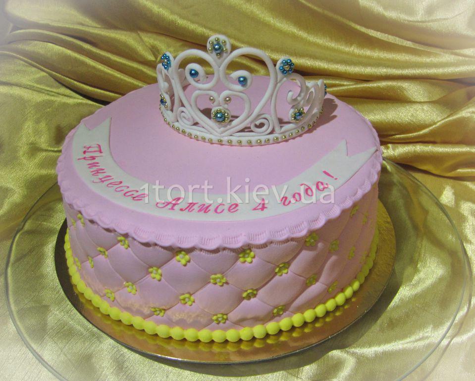 торт с диадемой фото